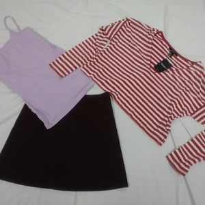 Forever 21 Skirt and Shirts